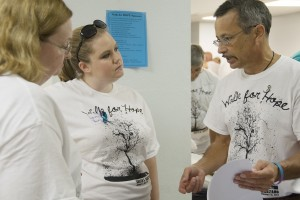 EKU Graduate Student Lauren Young with other Walk for Hope organizers