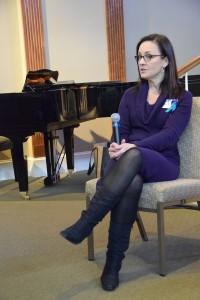 Melinda Moore, Ph.D., KSPG Chair, speaks at International SOS Day 2014